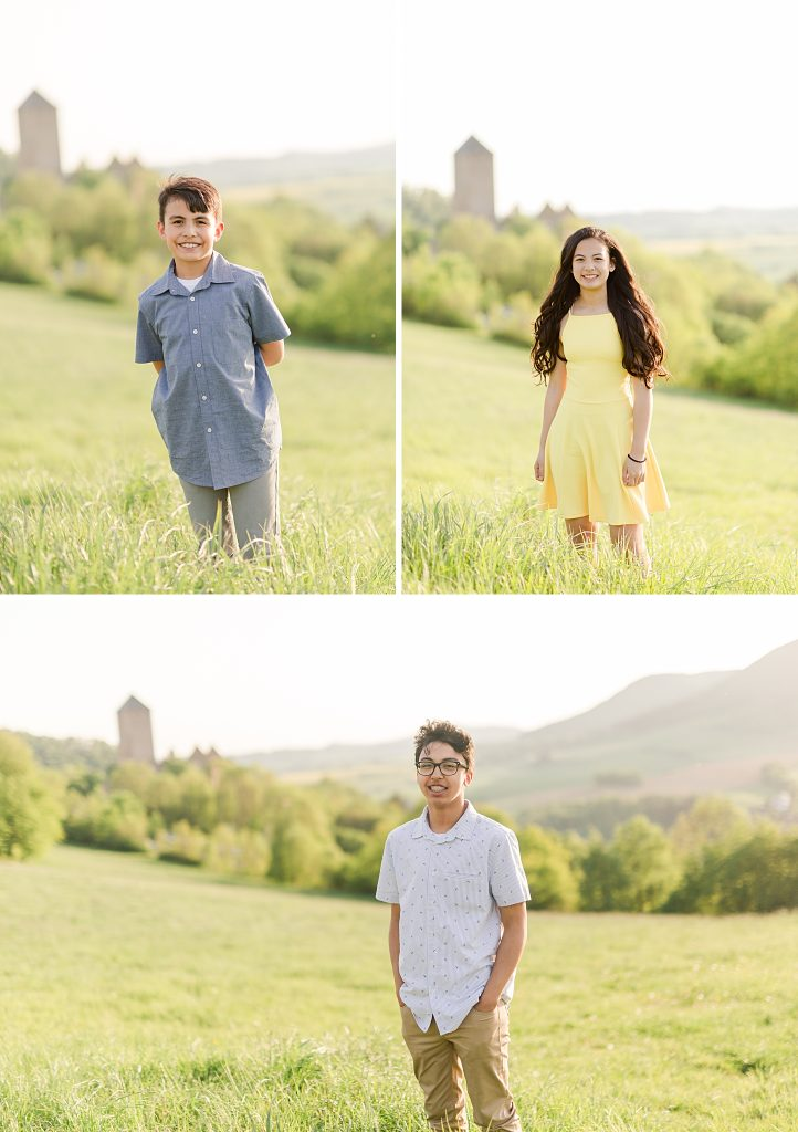 family session at castle