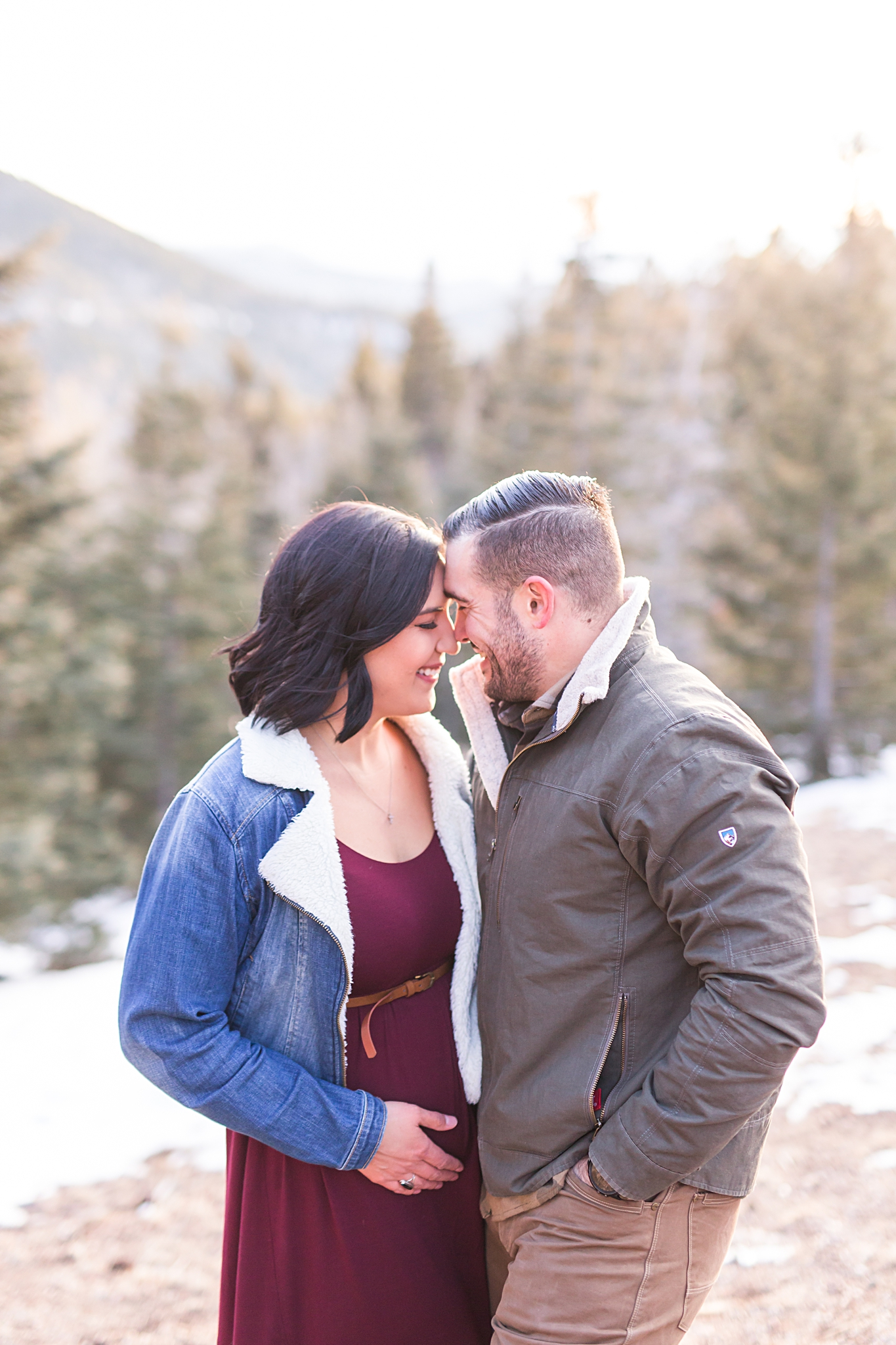 sandia foothills maternity shoot