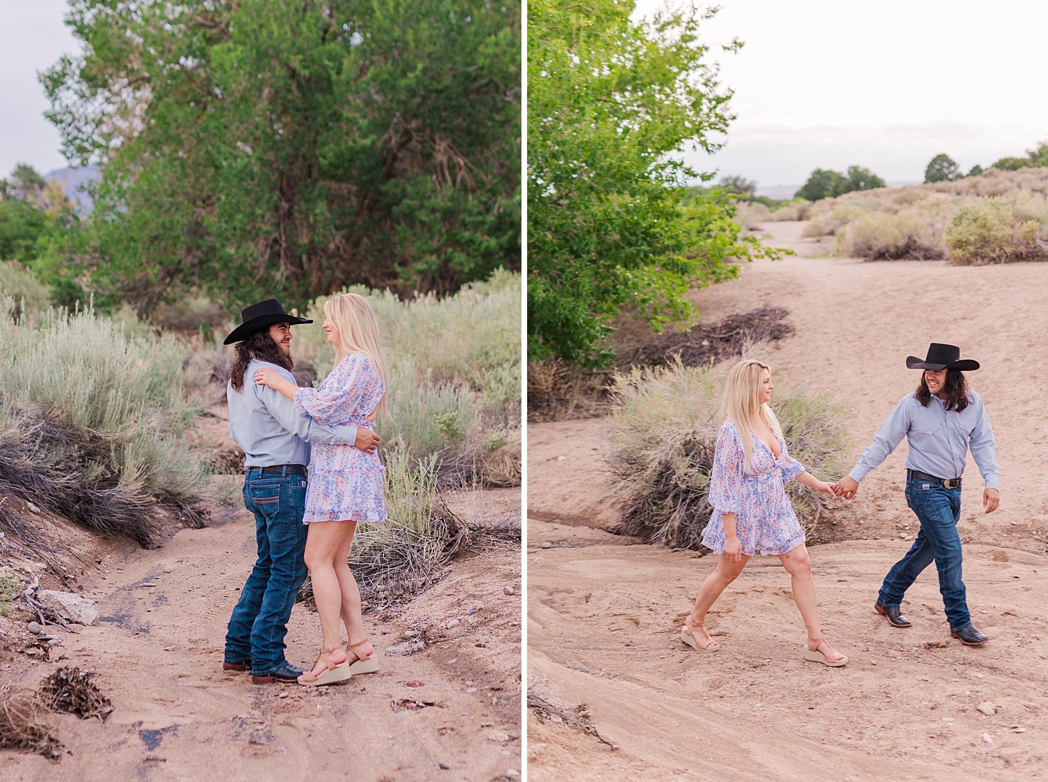 albuquerque desert engagement session
